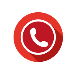 phone icon vector round