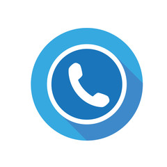 phone icon vector round