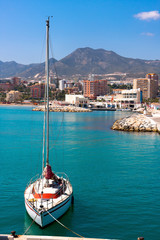 Sailboat in Benalmadena , Spain