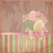 Easter old card, vector illustration
