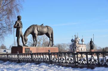 Памятник К. Батюшкову в Вологде