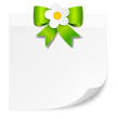 Schild mit Blumen