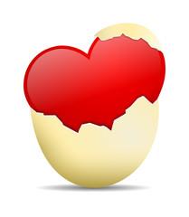 Herz Eierschale