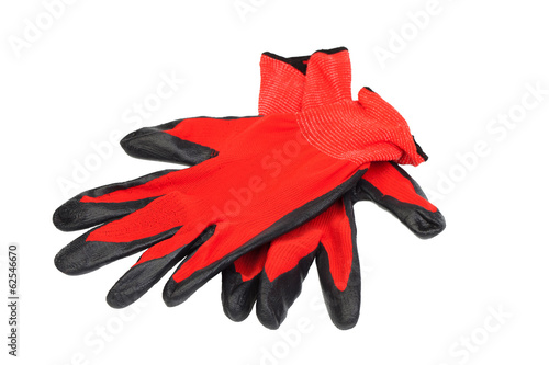 Protection red gloves