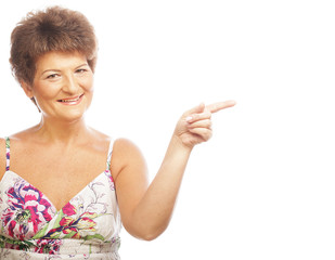 Mature Woman pointing