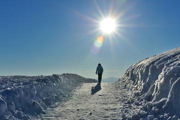 Dolomiti, Trentino Alto Adige, passeggiata nella neve