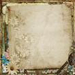 Grunge gorgeous vintage background with flowers