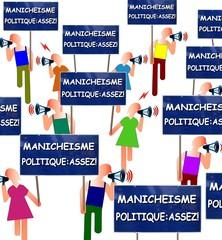 """Manif """"Stop manichéisme politique"""""""