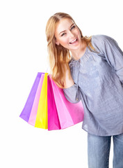 Excited shopper