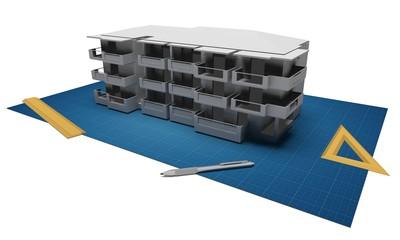 Progetto di edificio abitativo