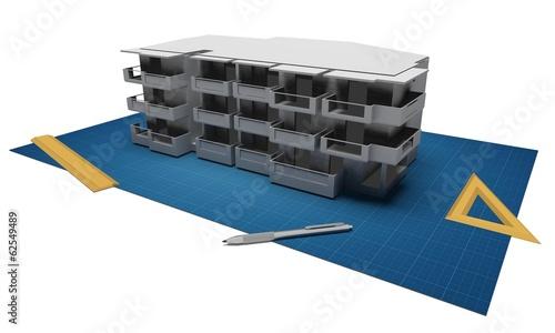 Progetto di edificio abitativo - 62549489