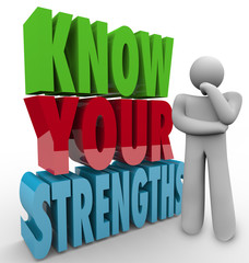 Know Your Strengths Person Thinking Special Skills Competitive A