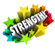 Strength Stars Word Strong Competitive Advantage Ability