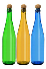 Three Glass Bottles
