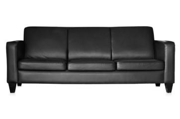 Black sofa isolated