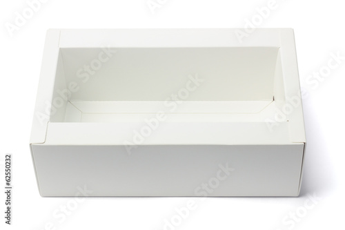 Open Paper Box On White Background