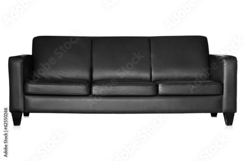 Black sofa isolated