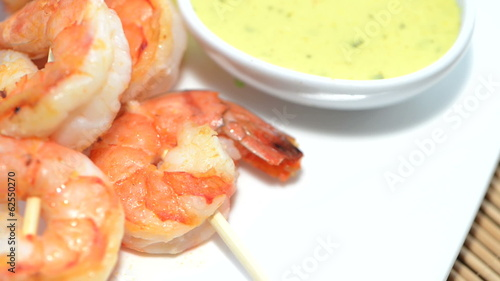 Prawn Skewers (loopable video)