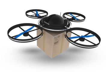 Postal Drone Isolated