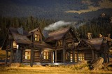 Log Home Illustration