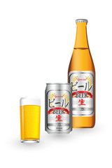 ビールとグラス