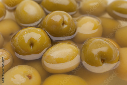 Marinated green olive