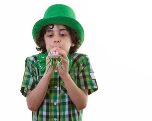 Funny Child during St. Patrick's Day