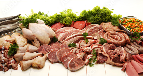 Staande foto Assortiment Meat Collection