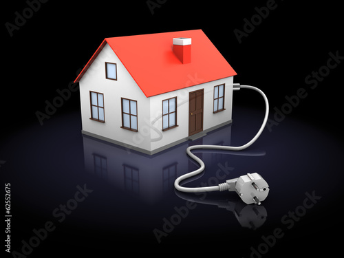 house with power cord
