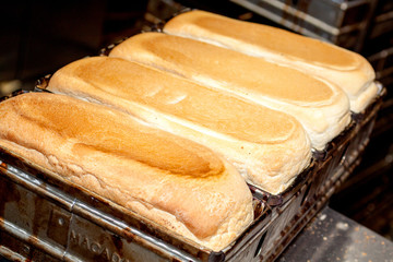 Baked Bread In Tins