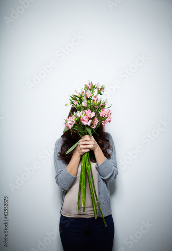 Hiding behind flowers