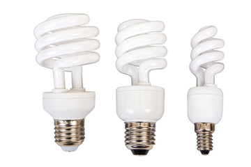 Three fluorescent light bulb