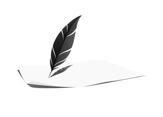 Feather and paper