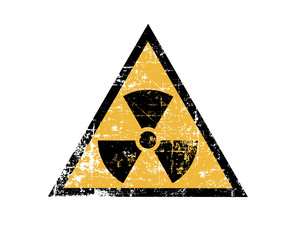 Vintage radiation sign
