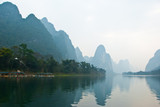 Landscape of Li River in Winter, Guilin, China