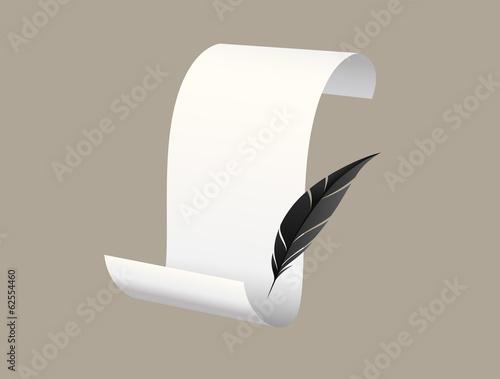 Deurstickers Retro Paper scroll