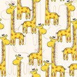 cute hand drawn seamless pattern with giraffe.