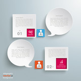 2 Squares 2 Speech Bubbles Infographic