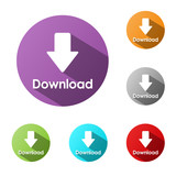 """DOWNLOAD"" Buttons (internet search save document share upload)"
