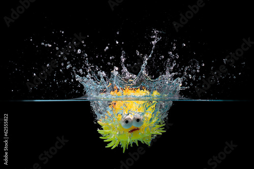 Toy fish splash