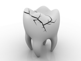 Illness Tooth. isolated background .