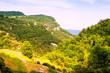 mountains landscape in summer. Collsacabra