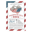 Vintage 4th of July Independence Day barbecue invitation - 62557270