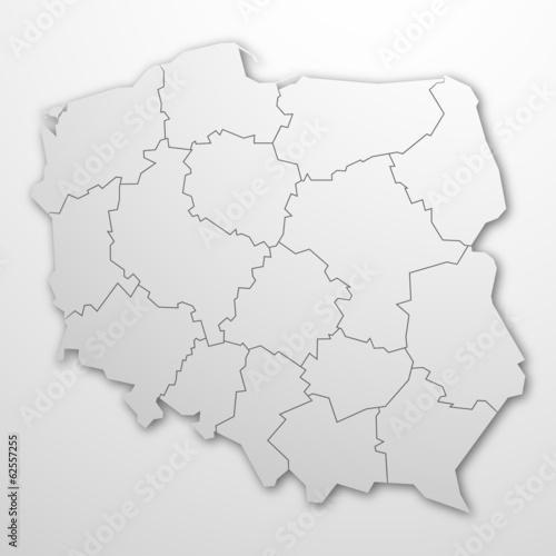 Polska - kontur