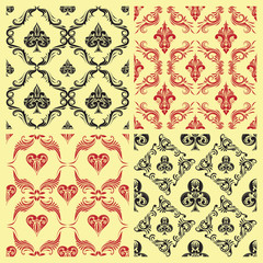 Pattern Playing Card Ornamental
