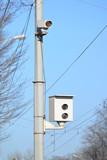 Camera of fixing of violation of traffic regulations poster