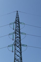 Pylon of high voltage electricity