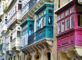 Colorful maltese houses