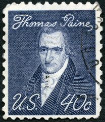 USA - 1969: shows portrait of Thomas Paine (1737-1809)