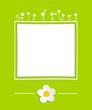 Grüne Karte mit Blumen